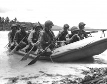 Marine Raiders Landing on Pavuvu
