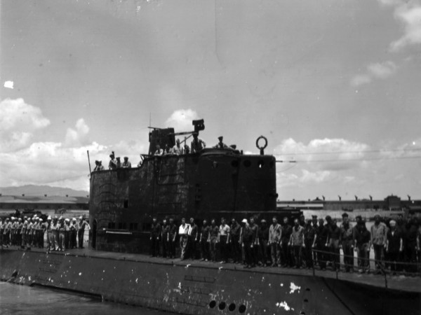 USS Nautilus after Makin Island Raid