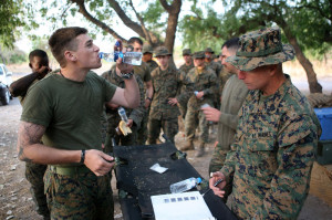 Marines take Doxycycline
